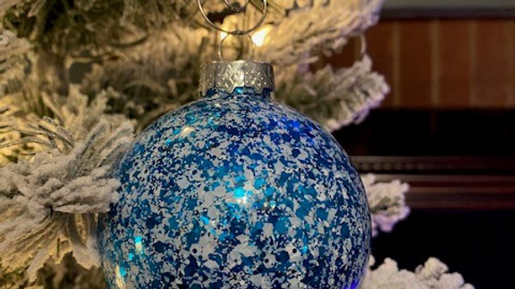 Jack Frost Glass Ornament