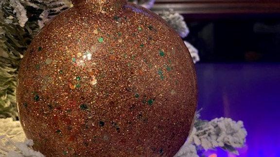 Camo Glitter Disc Ornament