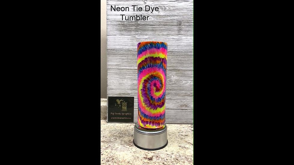 UV Neon Tie Dye Tumbler