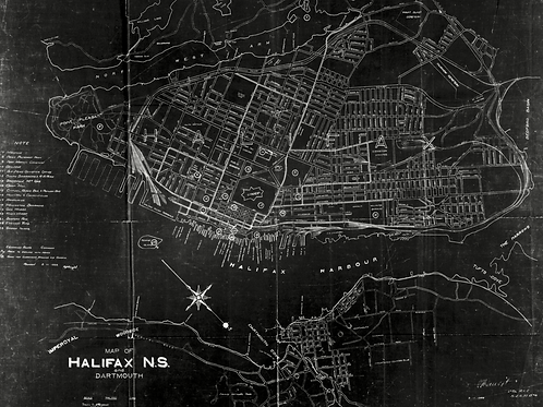 1922 Map of Halifax