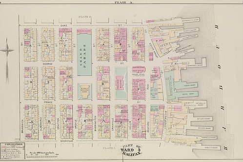 1878 Fire Insurance Plan - Halifax Downtown