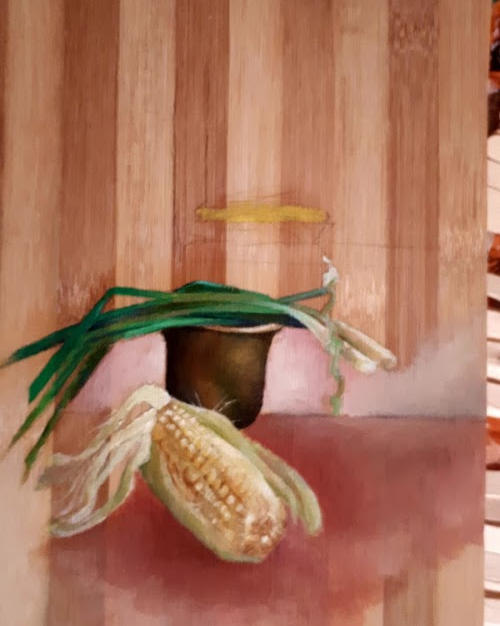 ציור על קרש חיתוך