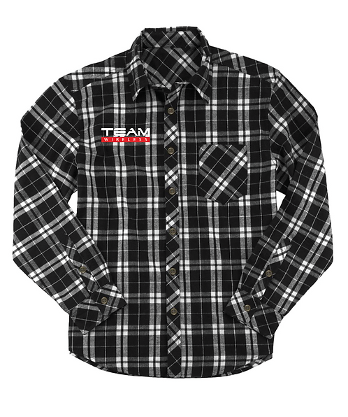 Unisex Flannel Long Sleeve