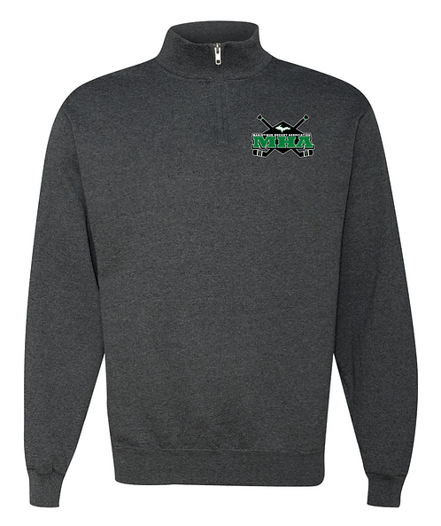 Cadet Collar Quarter-Zip Sweatshirt