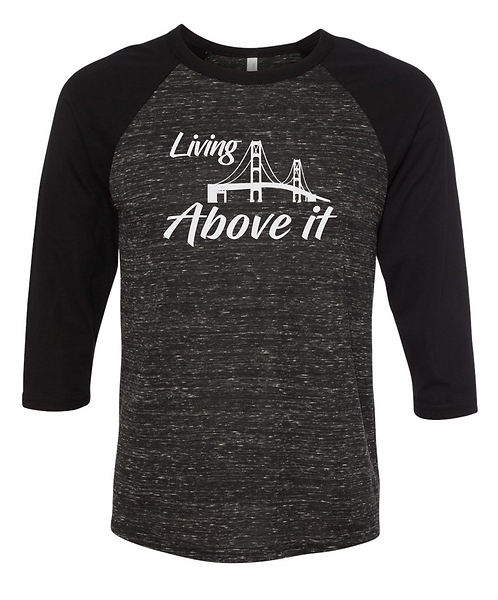 Living Above It Baseball Tee
