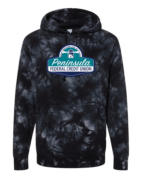 Midweight Tie-Dyed Hooded Sweatshirt