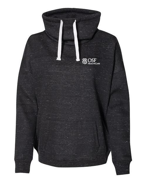 Women's Fleece Cowl Neck Sweatshirt