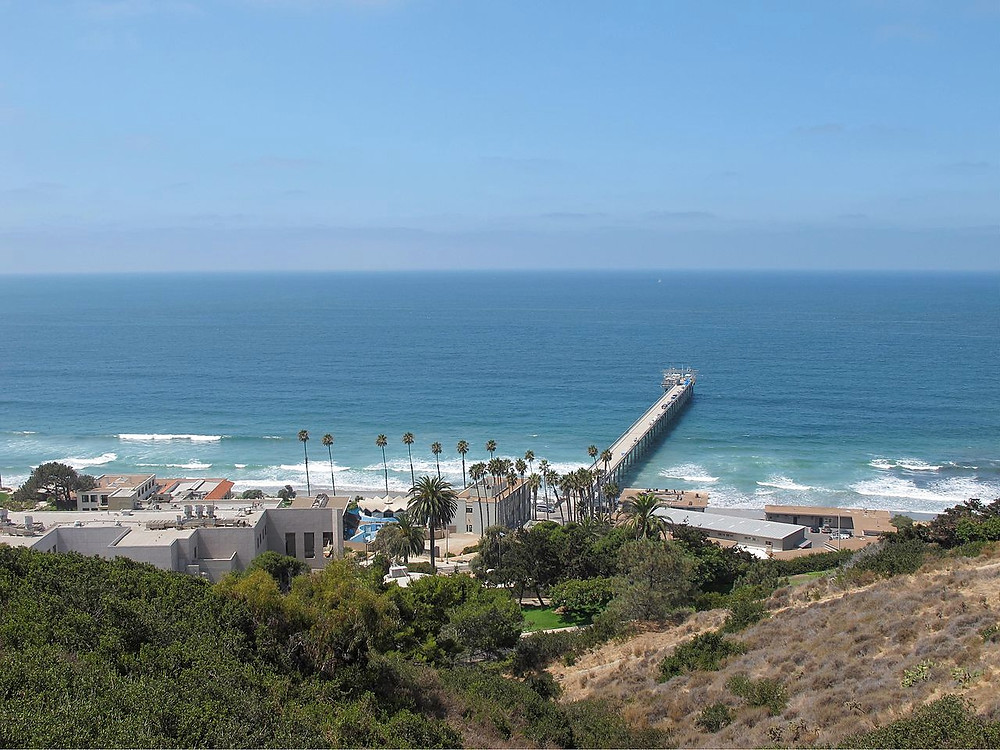 A view of Scripps Institution of Oceanography in 2011, taken from the Birch Aquarium. Invertzoo.