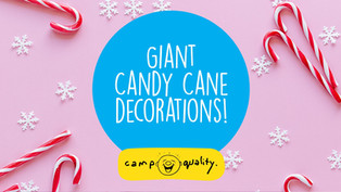 How to Make Cheap, Easy Christmas Decorations - DIY Giant Candy Canes!