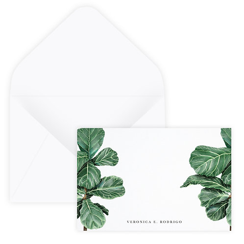 Fiddle Leaf Notecard