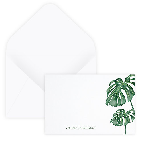 Monstera Notecard