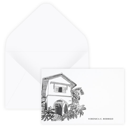 Personalized Venue Notecard