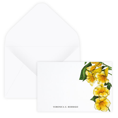 Yellow Bells Notecard
