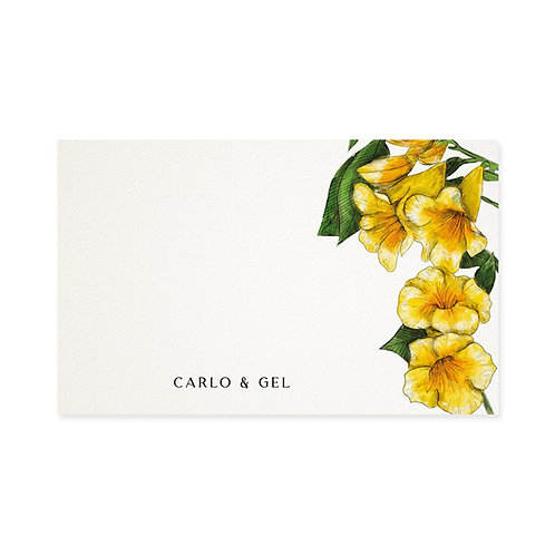 Yellow Bells Gift Tag
