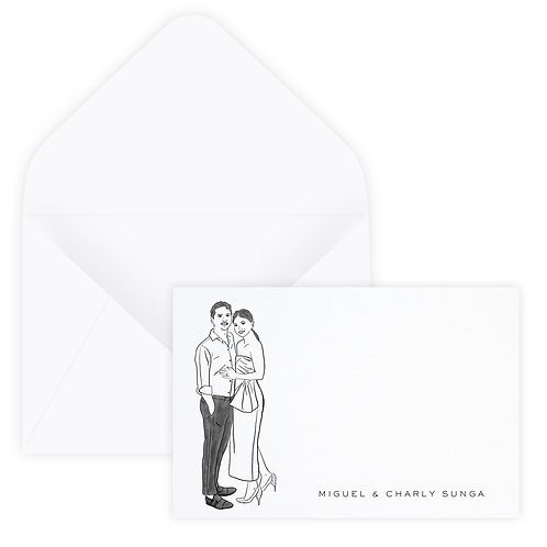 Personalized Drawing Notecard