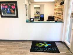 veterinary lobby check in desk in Pinehurst NC