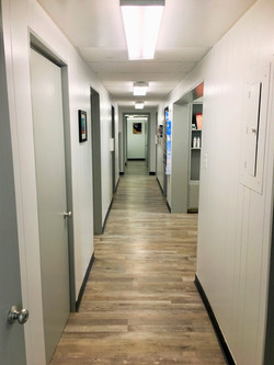 hallway to exam rooms in southern pines