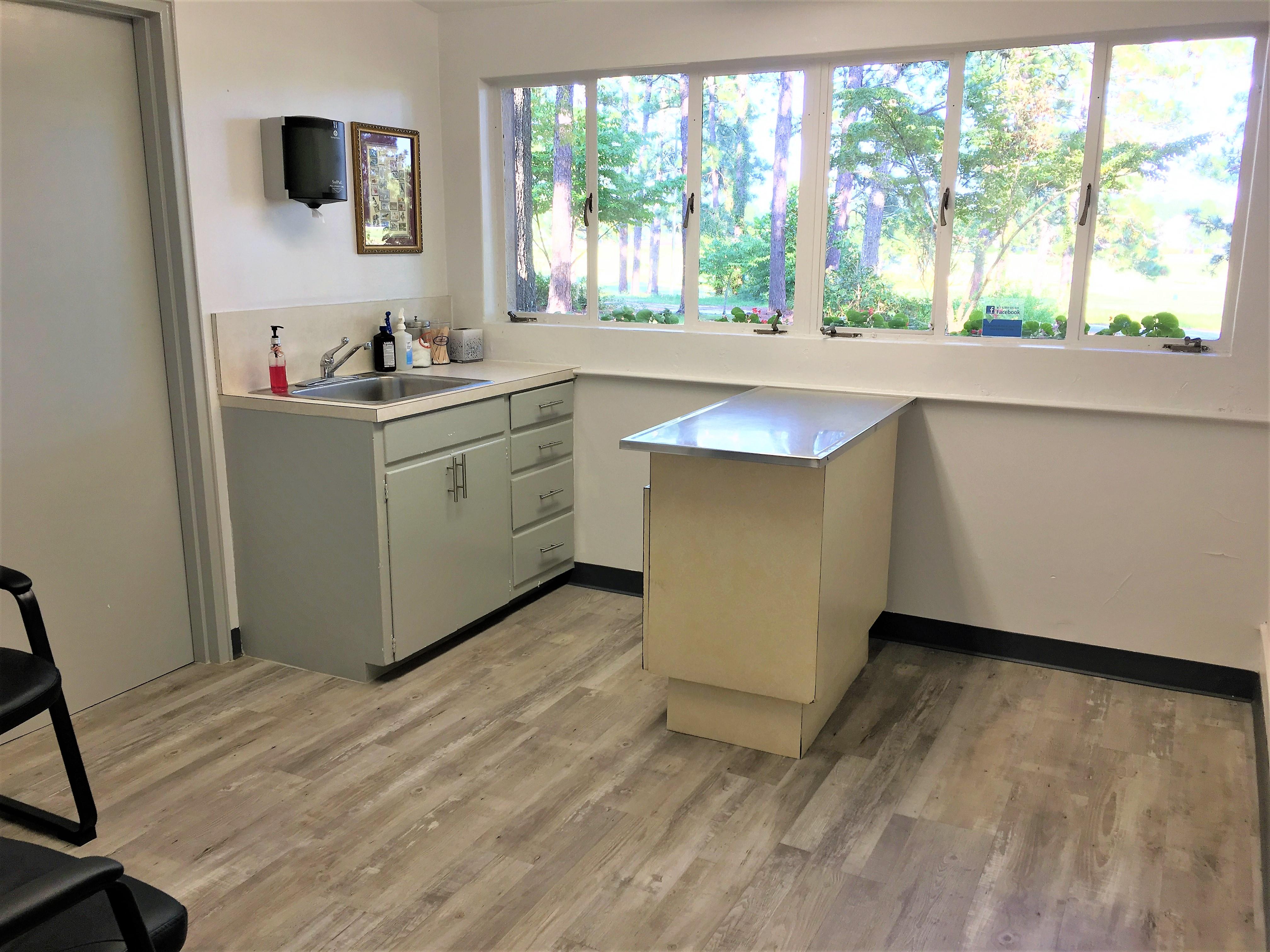Veterinary examination room in Pinehurst NC
