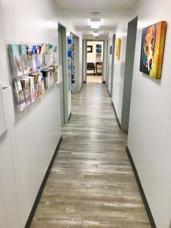 hallway to lobby leaving exam rooms