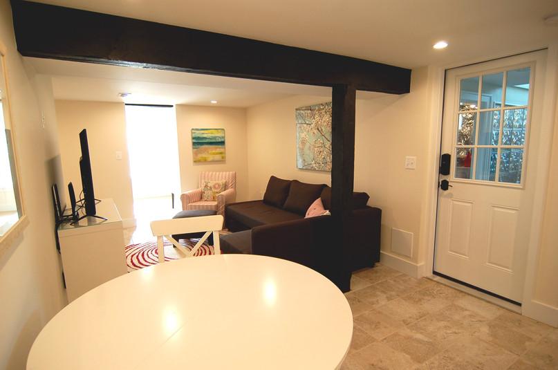 Furnished Basement Living
