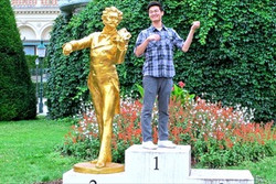 David Fiddling with the Golden Boy