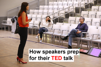 How do the speakers prep for TEDxSanFrancisco?