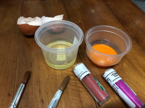 Tempera Color Experiment