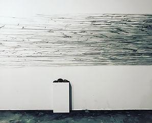 Mourning Ritual .Wall Drawing. 2019