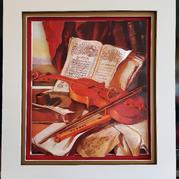 Prayerbook and Violin – 'Judaica' Series