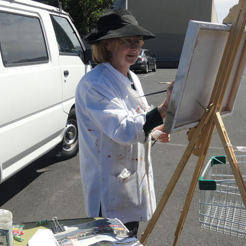 Cityscape 2014 - Emily at the Easel.JPG