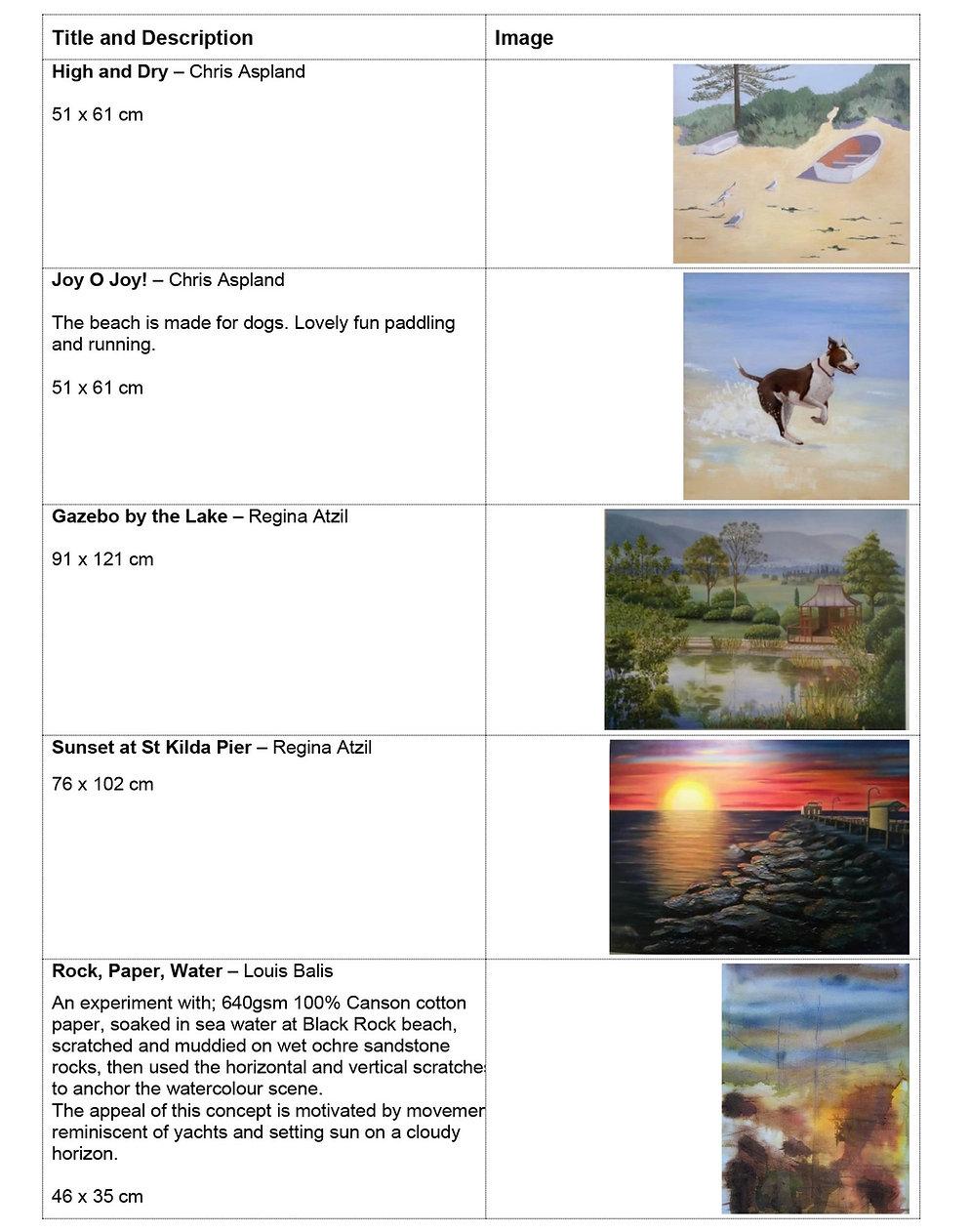 WATER exhibition - IMAGES & DESCRIPTIONS