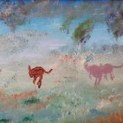 Kangaroos Across the Field