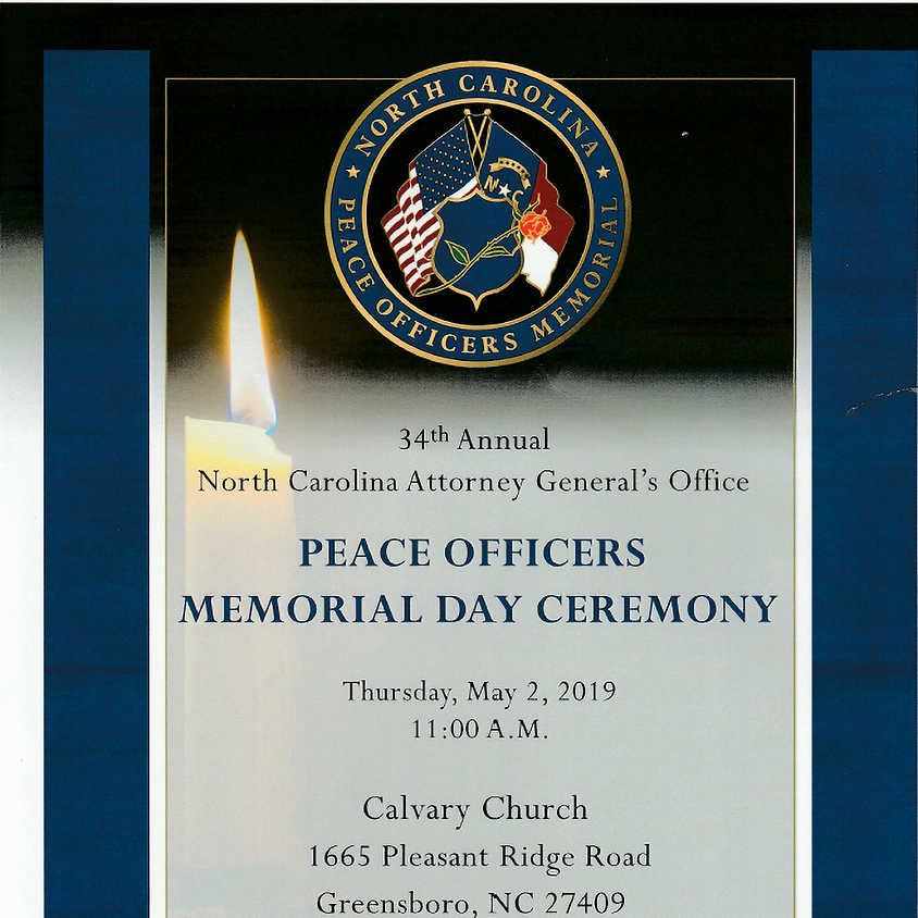 34th Annual North Carolina Peace Officers Memorial Day Ceremony