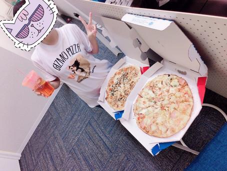 ピザパーティーで元気になろうヾ(=・ω・=)o