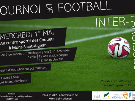Tournoi de foot  interparoisses