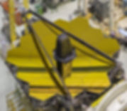 The golden mirror of James Webb Space Telescope looks very nice.