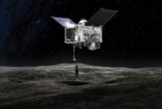 OSIRIS-REx, shown here as an artist impression, is one of the two ongoing asteroid sample-return missions