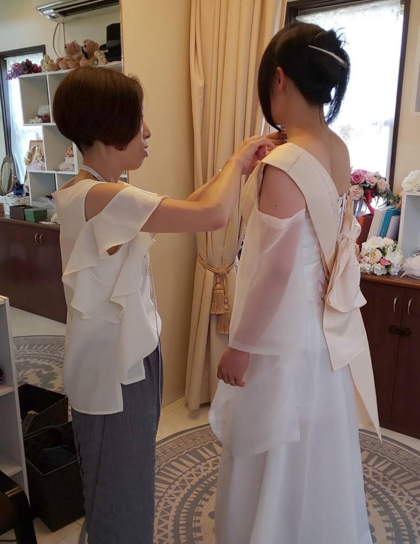 オーダードレス 仮縫い合わせ
