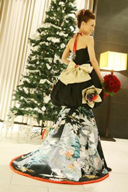 和ドレス 着物ドレス 和柄ドレス 和風ドレス レンタル
