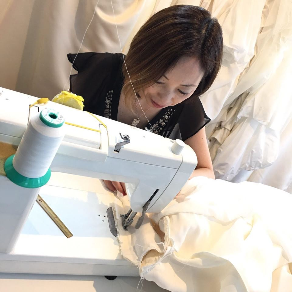 オーダー和ドレス 縫製