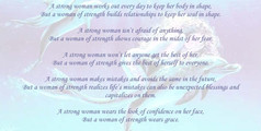 A Strong Woman vs a Woman of Strength