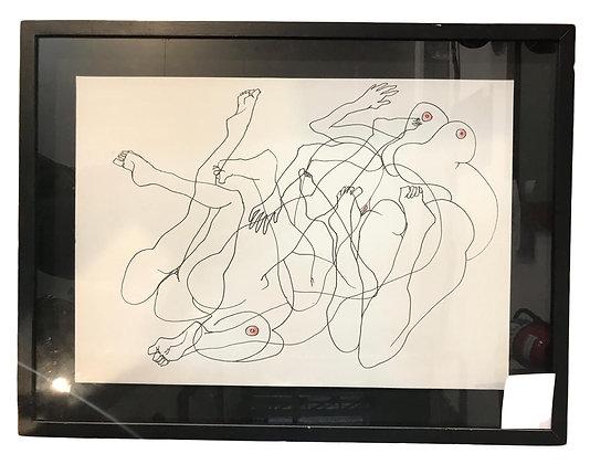 Cuadro Lineas Humanas Medidas: 74 x 56 cm