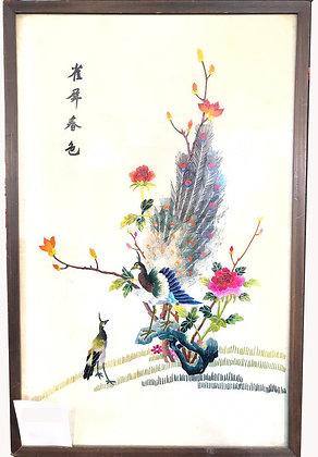 Cuadro Chino bordado Medidas: 56 x 37 cm