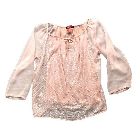 Blusa con lentejuelas Innocenti Talle: L mangas largas translucidas