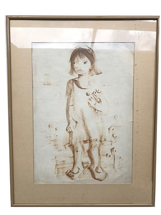 Cuadro sin título Medidas: 63 x 50 cm