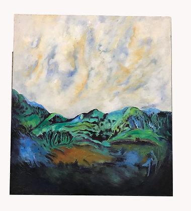 Cuadro paisaje Medidas: 80 cm  x 88 cm