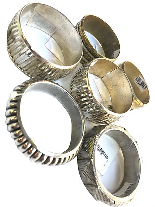 Pack de 6 pulseras de metal Talle: varios