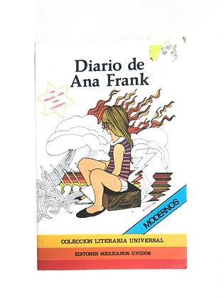 Libro El diario de Ana Frank Medidas: 10 cm x 13 cm aprox