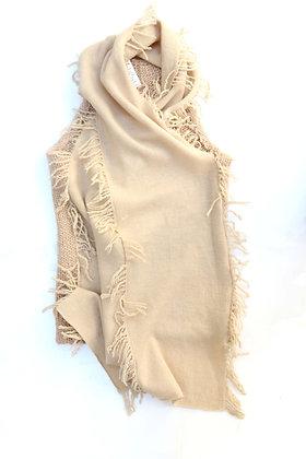 Chaleco de lana beige Talle: S.
