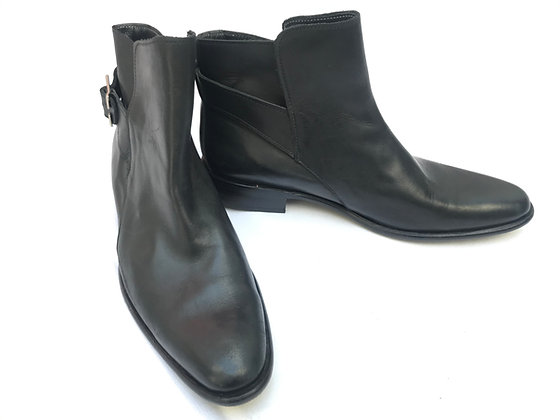 Botas de cuero negro Talle: 42